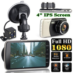 4 Inch LCD Screen Dash Cam Dual Lens HD 1080P Camera Car DVR Vehicle Video Recorder G-Sensor Parking Monitor Support 32G TF Card