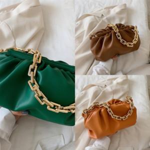 Laimall Mulheres Bolsas Ladie Totes Ruched Saco Soft Dumpling Clip Messenger Crossbody Cloud Bag para Saco de papel ajustável Ombro