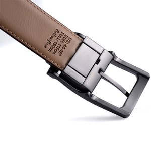 Beltox cezası 201117 tarafından birinde 160cm Döner Toka Two Erkekler Döner klasik süslemek Kemer Deri 85cm