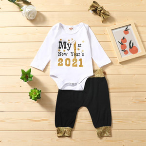 3pc christmas 2020 Newborn Baby Girls clothes Boys Bodysuit Romper Pants Hairband outfits Set Clothes christmas costume new Year