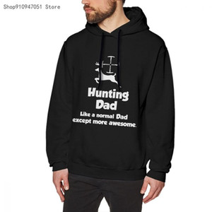 HUNTS Casual Hooded Full Print Regular Polyester Dad - Shooting Gift Idea Father Cn(origin) Standard