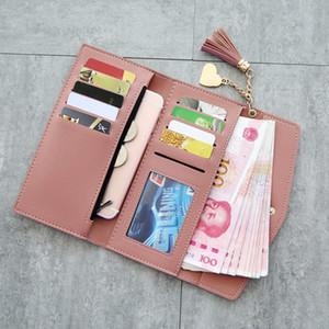 Hot Sale New tassel multi-function women designer wallets lady fashion clutchs female casual zero purses 7colors