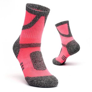 Colors Mountaineering 6 Outdoor Sport Socks Cotton Polyester Solid Geometric Patchwork Pink Cycling Designer Socks