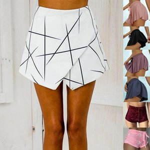 hot geometric ladies shorts skirts women summer shorts women office lady vintage sexy short pants feminino spodenki damskie