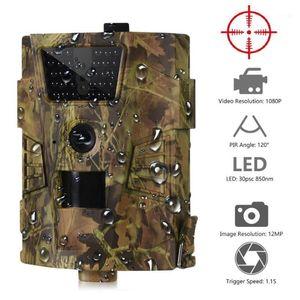 Cámara HD HT-001B Cámara de senderos 12MP 1080P 30PCS LED infrarrojos 850nm Hunting IP54 Impermeable de 120 grados Ángulo salvaje1