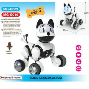 Fun Children's education, electric robotic dogs, sound control, cute electronic pets, toys, children, favorite holiday gifts LJ201105