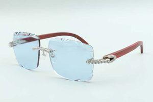 21 Новейший стиль натуральные оригинальные древесные храмы Солнцезащитные очки 3524020, режущие линзы бесконечные алмазы очки, размер: 58-18-135 мм