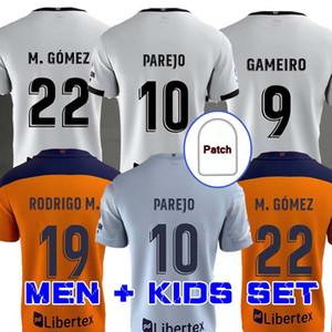 발렌시아 축구 저지 2020 2021 Guedes Gameiro Camisetas de Fútbol Rodrigo M. Florenzi M.Gómez 남자 키트 축구 셔츠
