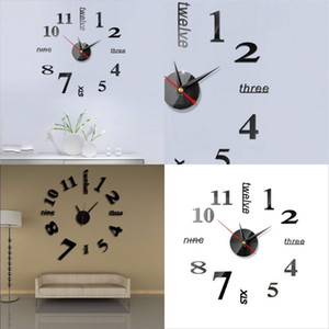 Originality DIY Wall Clock Acrylic Mirror Stickers 3D Home Furnishing Home Decorate Number Clocks High Quality 5 6jw F2