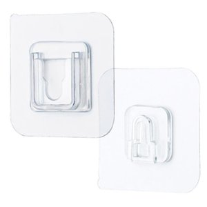 Double-Sided Adhesive Wall Hooks Hanger Strong Transparent Hooks Suction Cup Sucker Wall Storage Holder For Kitchen Bathroom