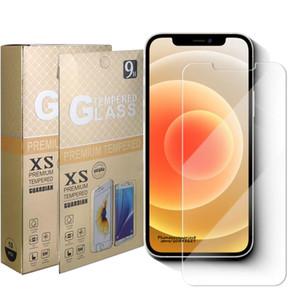 Novo protetor de tela de telefone de vidro temperado para iPhone 12 11 Pro Max iPhone XS XR XS-MAX 5 6 6 6 7 8 Plus Samsung A51 A71 5G A01 Core