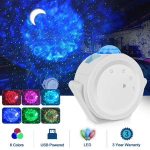 SXZM Starry Sky Projector USB Charging Night Lamp LED Night Lights Galaxy Lamp For home decration party children gift 201028