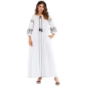 SK002 Women Muslim Long Maxi Dress Evening Abaya Robe Dubai Embroidery Moroccan Kaftan Modest Abayas Caftan Bangladesh Turkish Dresses
