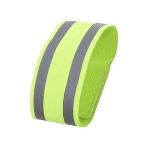 Reflective Safe Bands Strap Adjustable Elastic Arm Wrist Ankle Belts Wristband Night Running Safety Accessories 1pcs