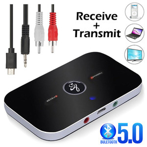 VIKEFON Bluetooth 5.0 Audio Receiver Transmitter 2 IN 1 RCA 3.5MM 3.5 AUX Jack USB Stereo Music Wireless Adapters For TV Car PC