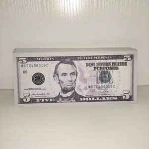 5 Banknote Currency Toy Quality New Movie Dollar Banknote Party Best Prop Children Gift Money Fake 001 Javgh