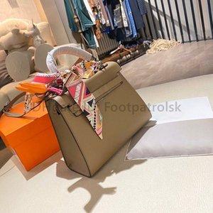 2021 Lüks Tasarımcı H Kelly Lindy Moda Ücretsiz Eşarp Ve At Kurdela Mektup Kilidi Debriyaj Çanta Lady Moda Bez Çantalar Omuz Çantaları