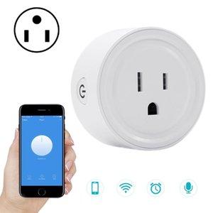 SA-003 10A Mini WiFi Plug Timing Smart Socket Works with Alexa Google Home AC 100-240V US Plug