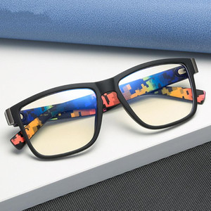 Verres d'ordinateur Anti-rayons Blue Verres Hommes Square Eyewear Cadre Femmes Rétro Anti Bleu Light Jeux Cadres Optique UV400