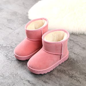 zRfo 2021 New Genuine Leather Pretty Snow Winter Kids Boots For Child Warm Winter Children Shoes Pendant Tassel Dusk Fashion Cute Boots