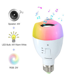 Amazon new portable mobile led bulb audio wireless bluetooth music bulb lighting emergency color changing light