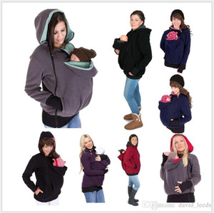 New Arrivals Autumn Winter Maternity Carrier Baby Holder Jacket Mother Kangaroo Hoodies Coats Outerwear Father Black Hoodies Chels