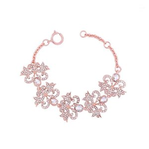 Bangle Crystal Butterfly Bracelet Female Wholesale Rose Gold Color Charm Bracelets Fashion Jewelry Accessories1