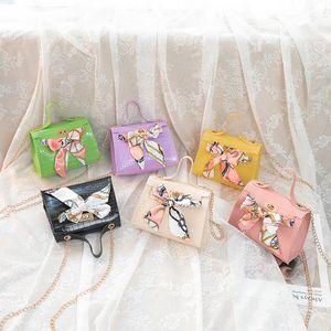 2020 summer and autumn new korean crocodile pattern silk scarf lock bag ladies one shoulder diagonal small square bag