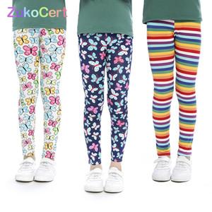 3 adet Zukocert Kızlar Tayt Baskı Çiçek Legging Infantil Yürüyor Ayak Bileği Uzunlukta Tayt Bebek Kız Kalem Pantolon Çocuk Pantolon LJ200812