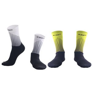 1Pair Functional Fabric Cycling Socks Compression Antislip Bike Bicycle Racing Running Breathable Sport Socks for Men and Women