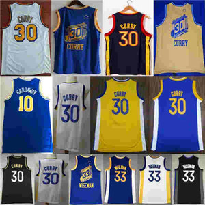 2021 New City Stephen 30 Curry James 33 Wiseman Tim 10 Hardaway Basketball Jersey NCAA Jersey Blanco Blanco Color Negro