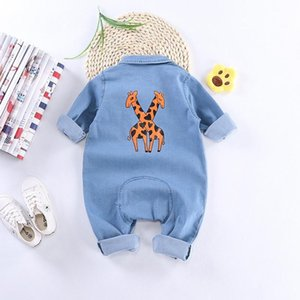 0-2 Years Old Spring and Autumn Cowboy Baby Jumpsuit Boys and Girls out Clothes Baby Cotton Romper Long Sleeve Romper