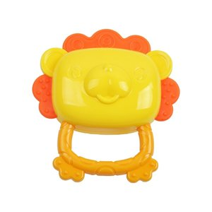 Adorable lion shsape ring teether baby rattles cute baby toys for babies