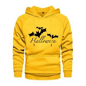 New tendência dos homens Hoodie Halloween Bat Impressão Casual Com Capuz Moletom Com Capuz Mens Hoodies Pullover Pullover Bolso Hip Hop Streetwear Q0121
