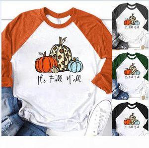 Mujer Halloween Calabaza camiseta O cuello Festavil Fiesta Sexy manga larga Casual Mujeres Top Ropa