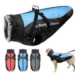 Теплая домашняя одежда зимняя утолщение шерсти для средних больших собак французский бульдог большая собака одежда куртка жилет водонепроницаемый Y1124