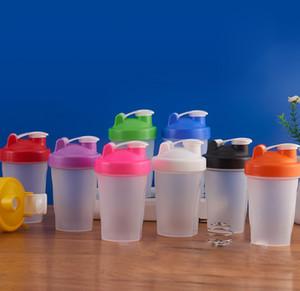 400ml Sports bottle Shaker Mixer Bottle Plastic Shaker bottle Sports Fitness Leakproof Shaker water Bottles KKA7011-1