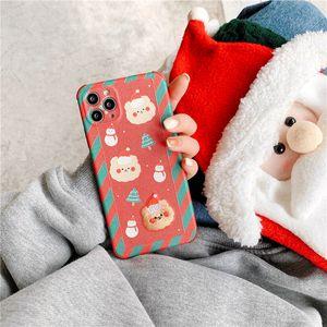 Suitable for iPhone12 Christmas 11ProMax mobile phone case XR Apple SE Couple Xs Bear 7 8Plus mini