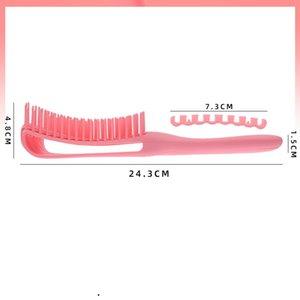 مشط تصفيف الشعر البلاستيك متعدد الوظائف كبير منحني كامير المنزلية ثمانية مخلب فرشاة تدليك مكافحة ساكنة حلاقة 5 2WM B2