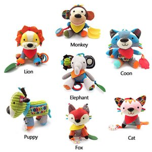 New Animal Style Baby Rattles Mobile Bed Molar Tooth Sticks Hanging Wind Chimes Ringing Hand Bell Baby Toys Rattle Toys LJ201118