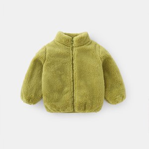 FOCUSNORM Winter Baby Girls Boys Fashion Wool Coats Long Sleeve Zipper Fur Solid Warm Jacket 6 Colors 201110