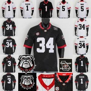 NCAA Geórgia Bulldogs Jersey Stetson Bennett IV Zamir Branco Kearis Jackson George Pickens Kendall Milton Kirby Smart Herschel Walke