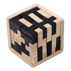 Creative 3D деревянный кубик головоломки Ming Luban, блокирующие развивающие игрушки для детей Детский мозг Teaser раннее обучение игрушки