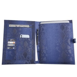 Customized Large File Folders for Embrossed Python Leather Bag Macbook Air Laptop 13 inch Documents Pouch Q1117