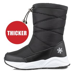 Platform Women's High Boots Winter Thick Plush Waterproof Women Shoes Non-slip Fashion Snow Boot for Ladies Shoe botte femme LJ201214