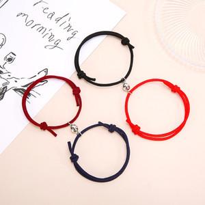 2 piezas de pareja pulseras imanes atraen mutuamente amante amistad regalo pulsera hombres y mujeres encanto pulsera joyería gwe3917