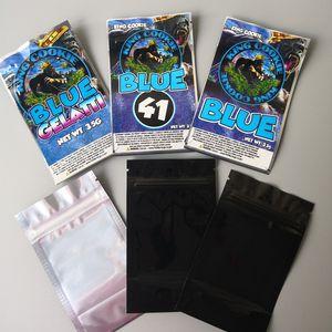 3 Types Cookies King Californie 3.5g Mylar Sacs King Cookies Bleu 41 Cookies Bleu Gelatti et Mylar Sacs