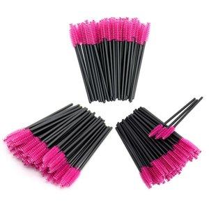 2 50pcs Disposable Eyelash Brush Mascara Wands Applicator Spoolers Eyelash Extension Microbrush Brushes Makeup Brushes Tool Set