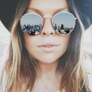 Lunettes de soleil miroir Vintage Leonlion 2020 Femmes / Hommes Marque Designer Lunettes Lady Ronde Verres de soleil de luxe Retro Gafas1