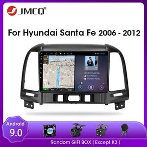 JMCQ для Santa Fe 2006-2012 Android 9.0 Автомобильный радиорегистратор Мультимедийный видеоплеер Мультимедийный аудиоплеер 2 DIN разделенный экран RDS CAR DVD